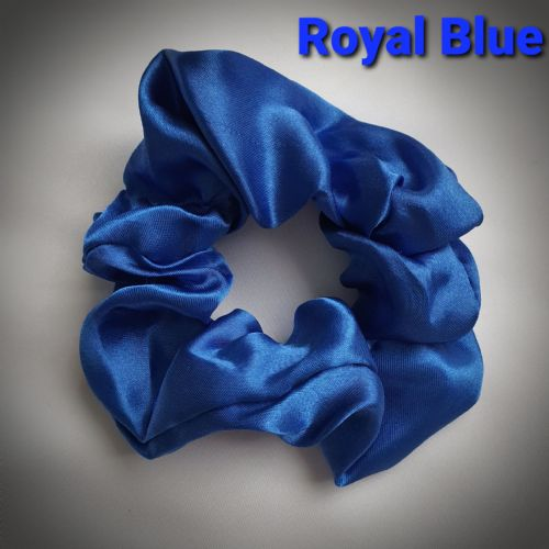 Royal Blue Satin Scrunchie